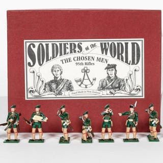 "9 Pc, #33/100 ""The Chosen Men"" Lead Toy Soldiers"