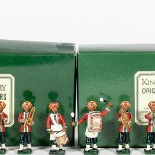 12 Pc, British Indians Marching Band Toy Soldiers