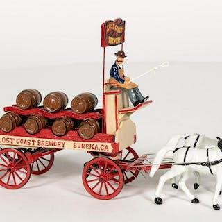 18 Pc, North Coast Miniatures Brewery Wagon
