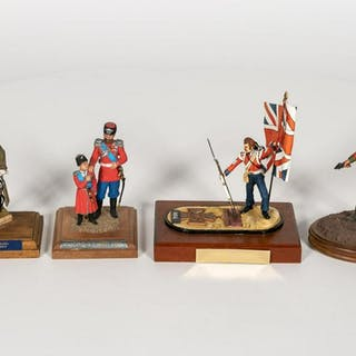 4, Hand Painted Scale Military Model Figurines