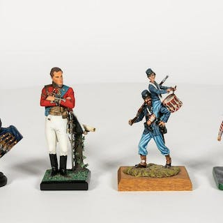 Four Hand Painted Model Soldiers Including Stadden