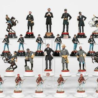 Charles Stadden Military Civil War Chess Set