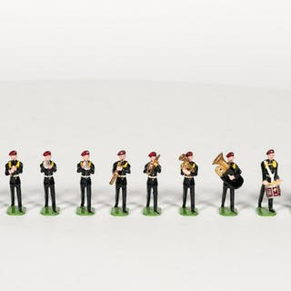 12 Pc, Ducal British Soldier Band Toy Soldiers