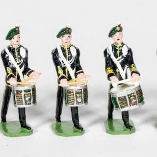 7 Pc, Ducal Irish Marching Band Toy Soldiers