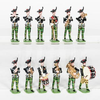 12 Pc, Ducal Scottish Highland Lead Toy Soldiers