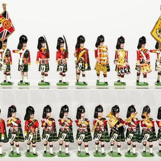 20 Pc, Ducal Highland Marching Band Toy Soldier