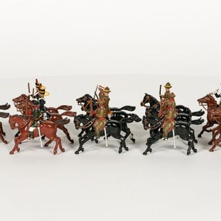 Britains, Group Of Fourteen Toy Soldiers