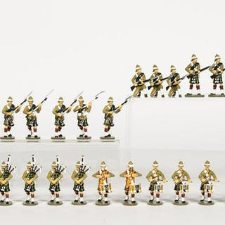 24 Pc, Frontline Figures Scottish Toy Soldiers