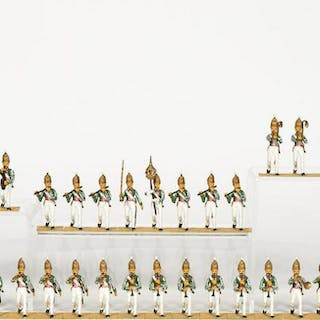 37 Pc, Early 18th Century Dressed Toy Soldiers