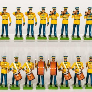 20 Pc, Britains U.S Army Marching Band Toy Soldier