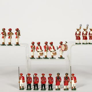 24 Pc, Marlborough Indian Band Toy Soldiers