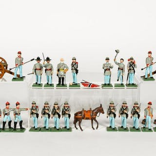 28 PCs, Signed Confederate Uniform Toy Soldiers