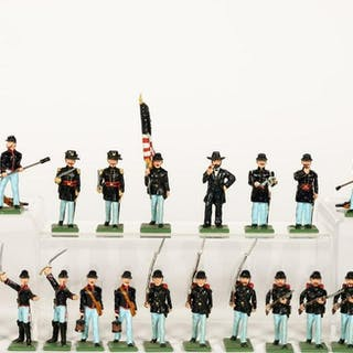 26 Pc, Signed Union Army Lead Toy Soldiers