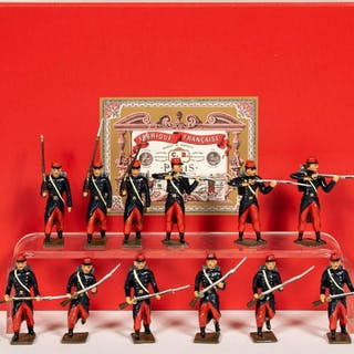 """12 Pc, Mignot France """"Franco-Prussian War"""" Soldier"""