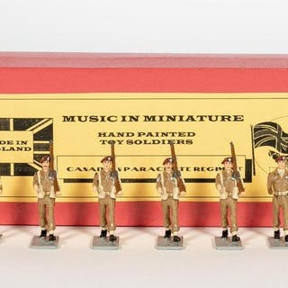 6 Pc, Music In Miniatures Canadian Toy Soldiers