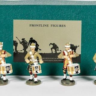 "4 Pc, Frontline Figures ""Gordon Highlander Drums"""