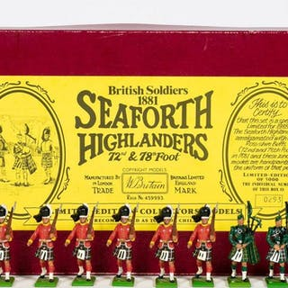 12 Pc, Britains British Highlander Toy Soldiers
