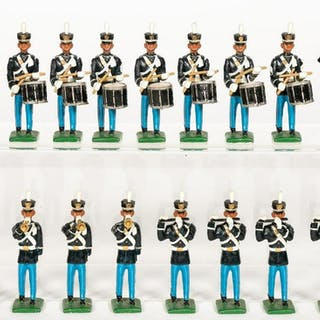 17 Pc, Unidentified Maker American Band Soldiers
