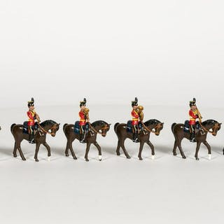 6 Pc, Polish Mounted Band Toy Soldiers