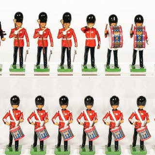 """16 Pc, Britains """"British Band Unit"""" Toy Soldiers"""