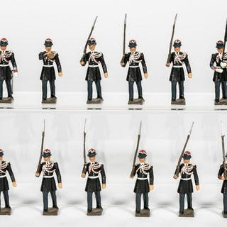"""12 Pc, Mignot """"Indonesian Marching Band"""" Soldiers"""