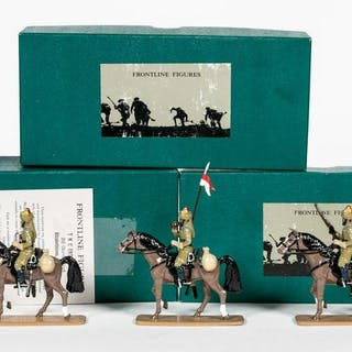 """7 Pc, Frontline Soldiers """"Skinners Horse"""" Soldiers"""