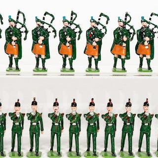 20Pc, Ducal Irish Pipers and Horn Toy Soldiers