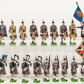 20 Pc, Ducal British Pipes and Drums Toy Soldiers