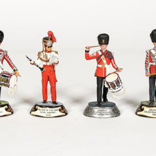 "Stadden, Four Hand Painted ""Band Member"" Figures"