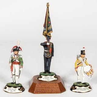 """Stadden, Three Hand Painted """"Military"""" Figurines"""