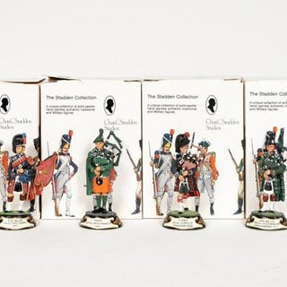 "Stadden, Four Hand Painted ""Piper"" Figures"