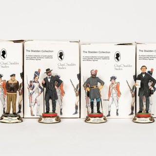 """Stadden, Four Hand Painted """"Officials"""" Figurines"""