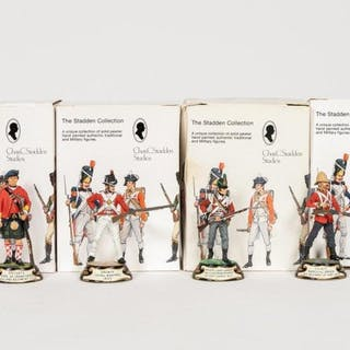 "Stadden, Four Hand Painted ""Rifle"" Figurines"