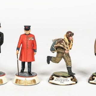 Stadden, Four Hand Painted Military Figures
