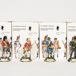 "Stadden, Four Hand Painted ""Soldier"" Figures"