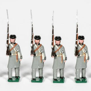 """Six, Unidentified Maker """"Confederate"""" Toy Soldiers"""