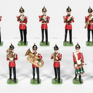 "11 Pc, Ducal ""German Band"" Toy Soldiers"