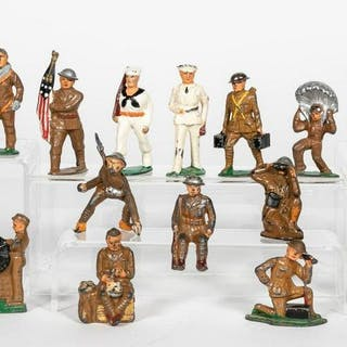 18 Pc, Barclay Manoil Lead Toy Soldiers