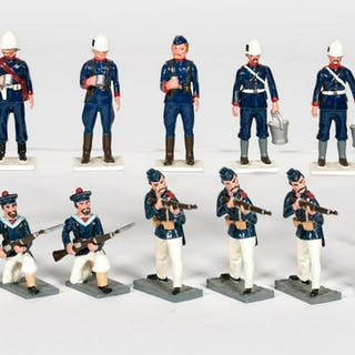 "12 Pc, Trophy Miniatures ""19th C British"" Soldiers"