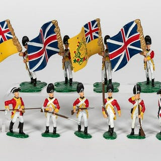 "12 Pc, Artist Signed ""38th British Regiment"""