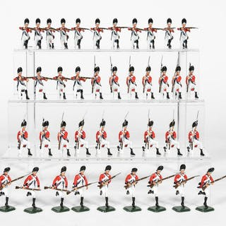 "40 Pc, ANI ""18th Century British"" Toy Soldiers"