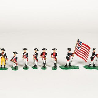 "12 Pc, Artist Signed ""American Revolution"" Soldier"