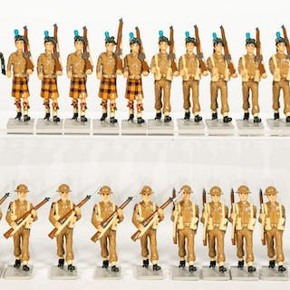 24 Pc, WWII Irish Toy Soldier Grouping