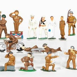24 Pc, Manoil & Barclay Lead Toy Soldiers