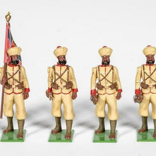 "6 Pc, Britains ""British Colonial Indian"" Soldiers"