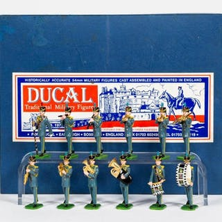 """12 Pc, Ducal """"Gordon Highlanders"""" Toy Soldiers"""