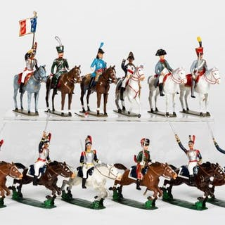 "25 Pc, Mignot ""Charging Napoleonic"" Toy Soldiers"