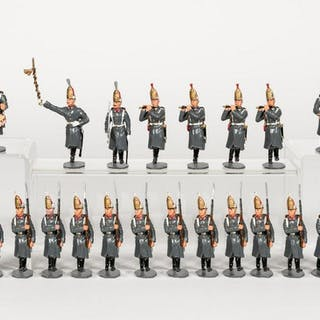 """24 Pc, """"German Marching Band & Infantry"""" Soldiers"""