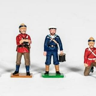 "8 Pc, Trophy Miniatures ""British Navy Cannoneers"""