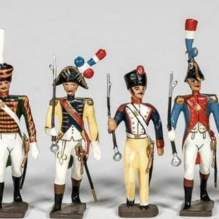 """9 Pc, Mignot """"Napoleonic Era"""" Toy Soldiers"""